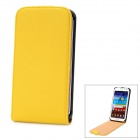 Protective Up-Down Flip-Open PU + Kunststoff-Gehäuse für Samsung Galaxy Note 2 / N7100 - Yellow