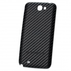 Woven Pattern Replacement PU-Leder + Plastic Battery Case für Samsung N7100 - Schwarz
