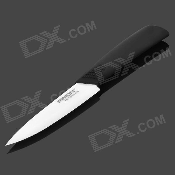 "RIMON AZ401-B 4"" Chic Zirconia Ceramic Knife w/ ABS Handle - Black + White"