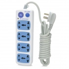 XINGNIU XN-506 2500W Universal Electrical Extension Power Socket - White (250V / 10A / 3m-Cable)