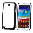 Protective Plastic Bumper Frame for Samsung Galaxy Note II N7100 - Black