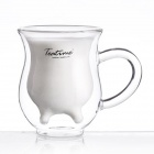 Creative Milk Teat Style Double Layer Milk Glass - Transparent (200ml)