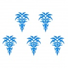 MP078 DIY Crystal Flower Reflective Car Decorative Stickers - Blue (5 PCS)