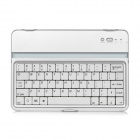 Aluminum Alloy Wireless Bluetooth V3.0 61-Key Keyboard for iPad Mini - White + Silver