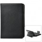Bluetooth V3.0 82-Key Keyboard w/ Protective PU Leather Case for iPad Mini - Black