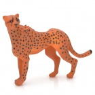 Desk Decoration Resin Leopard Toy - Brownish Yellow + Black