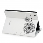 Dandelion Pattern Protective PU Leather Case for Ipad 2 / The New Ipad - White