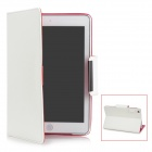 Protective PU Leather Case for Ipad MINI - White + Deep Pink