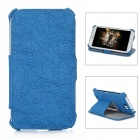Protective PU Leather Flip-Open Case for Samsung N7100 - Blue