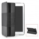 Fashion Protective PU Leather Case for iPad Mini - Black