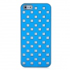 Rivets Studded Protective PC Back Case for Iphone 5 - Light Blue