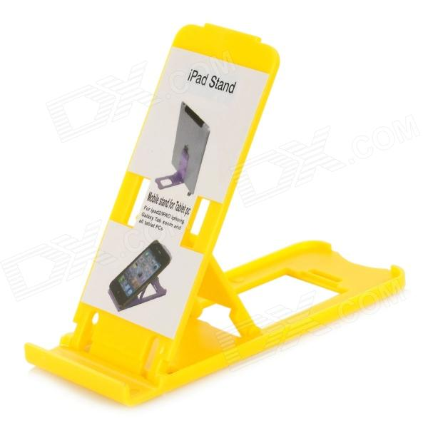 все цены на Portable 5-Angle Universal Stand Holder Support for Iphone / Ipad / Cell Phone - Yellow онлайн