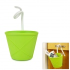 Simple Household Soft Rubber Hanging Storage Basket - Green
