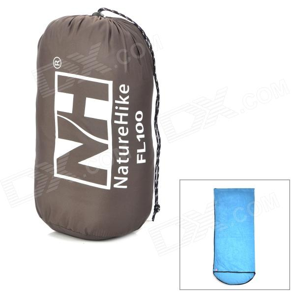 NatureHike FL100 Envelope Style Camping Sleeping Bag w/ Hood - Blue