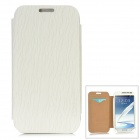 Protective PU Case w/ Card Slot for Samsung N7100 - White