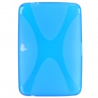 Protective Soft TPU Back Case for Google Nexus 10 - Translucent Blue
