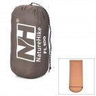 NatureHike FL100 Envelope Style Camping Sleeping Bag w/ Hood - Coffee