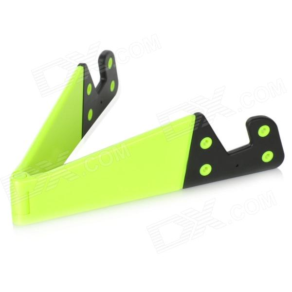 все цены на Stylish Folding Stand Holder Support for Iphone / Ipad / Samsung / HTC / Cell Phone - Green + Black онлайн