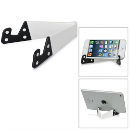 Stylish Folding Stand Holder Support for Iphone / Ipad / Samsung / HTC / Cell Phone - White + Black