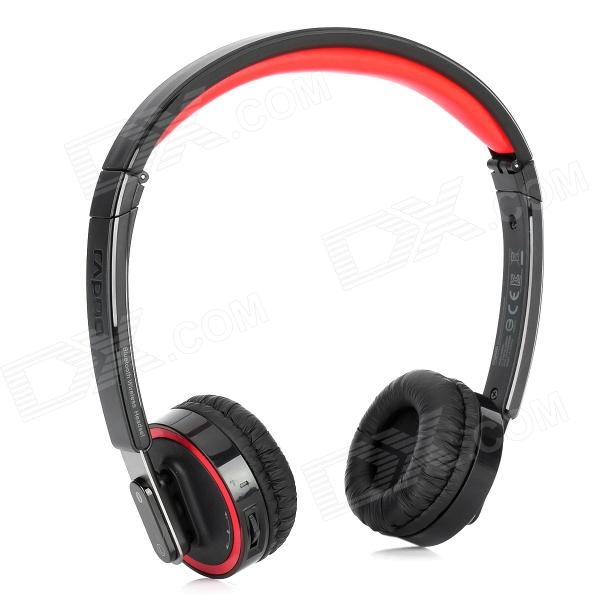 Rapoo H6080 Folding Bluetooth V4.0 Headphones Headset w/ Voice Recognition - Black + Red