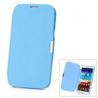 Protective Flip-Open PU Leather + Plastic Case for Samsung Galaxy Note II / N7100 - Light Blue