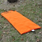 NatureHike FL100 Envelope Style Camping Polar Fleece Sleeping Bag w/ Hood - Orange