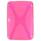 Protective Soft TPU Back Case for Google Nexus 10 - Translucent Red