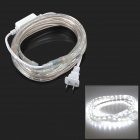 9.6W 240lm 6500K 1-SMD 3528 LED White Decoration Light Strip (2m-Cable / 2-Flat-Pin Plug / AC 220V)