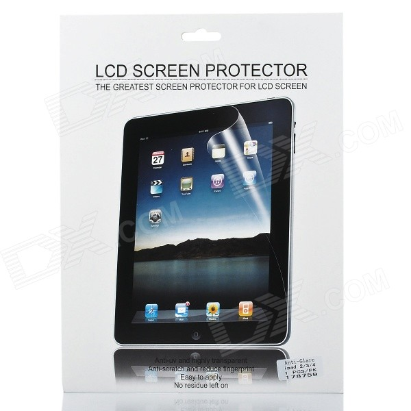 Protective Matte Frosted Screen Protector Film Guard for Ipad 4 - Transparent