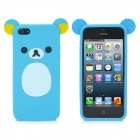 Cute Bear Style Protective Soft Silicone Back Case for iPhone 5 - Blue