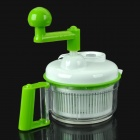 Multi-Function Household Manual Food Processor Meat Grinder - White + Green