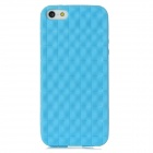 Skin Checked Pattern Protective Silicone Back Case for Iphone 5 - Blue