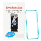 Protective Plastic Bumper Frame w/ Screen Protector Film Guard for iPhone 5 - Translucent Light Blue