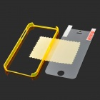 Protective Plastic Bumper Frame w/ Screen Protector Film Guard for iPhone 5 - Translucent Orange