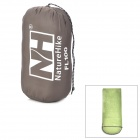NatureHike FL100 Envelope Style Camping Sleeping Bag w/ Hood - Grass Green