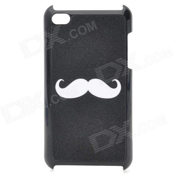 Cute Mustache Pattern Protective Plastic Back Case for Ipod Touch 4 - Black
