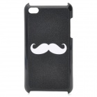 Cute Beard Pattern Protective Plastic Back Case for iPod Touch 4 - Black