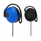 DMK-Q142 Stylish Ear Hook Headphones - Blue + Black (3.5mm Plug / 136cm)