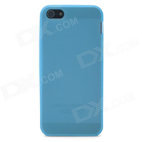 Protective Luminous TPU Back Case for Iphone 5 - Skyblue