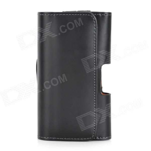 Protective PU Leather Case w/ Belt Clip for LG Nexus 4 - Black