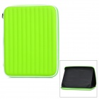 "Protective PU Inner Pouch Case w/ Speaker + Holder for 9.7"" Tablets - Green + White"