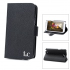 Protective Flip-Open PU Leather w/ Card Slot for Samsung N7100 - Black