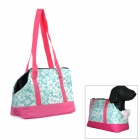 Flower Pattern Outdoor Portable Oxford Cloth Hand / Shoulder Carry Bag for Pet Dog Cat