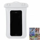 Protective Waterproof Pouch w/ Arm Band + Strap for iPhone 5 - White