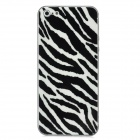 Zebra Style Protective Front + Back Skin Sticker Protector for Iphone 5 - White + Black