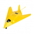 Carrey SD-117 Fighter Model Style 0.8'' LCD 2-CH Media Player Speaker w/ TF / FM / USB - Yellow