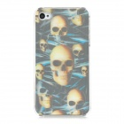3D Skull Pattern Protective Plastic Back Case for Iphone 4S - Blue + Black + Yellow