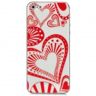3D Love Heart Style Protective Front + Back Skin Sticker Protector for iPhone 5 - White + Red