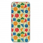 Spiral Pattern Protective Front + Back Skin Sticker Protector for iPhone 5 - Yellow + Blue + Green