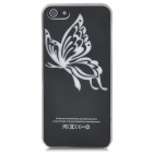 Butterfly Pattern Protective Plastic Case w/ Flashing LED for Iphone 5 (1 x CR2016)